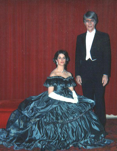 "Eileen and her dad in the Seattle Opera production of ""La Traviata"""