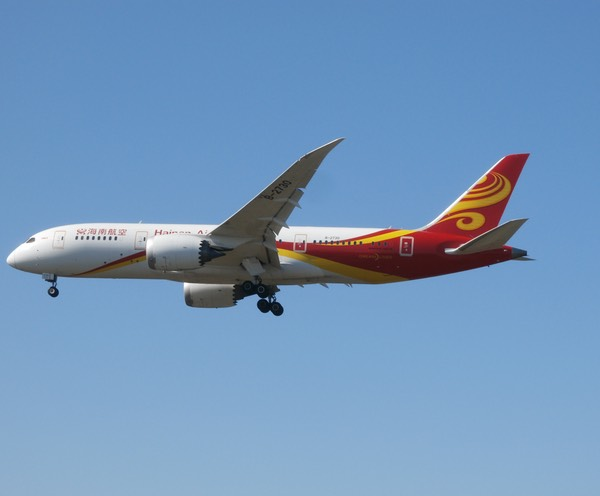 Hainan Airlines 787 from Beijing